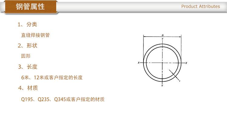 焊接圆管属性